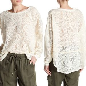 Free People | Not Cold In This Floral Knit Top